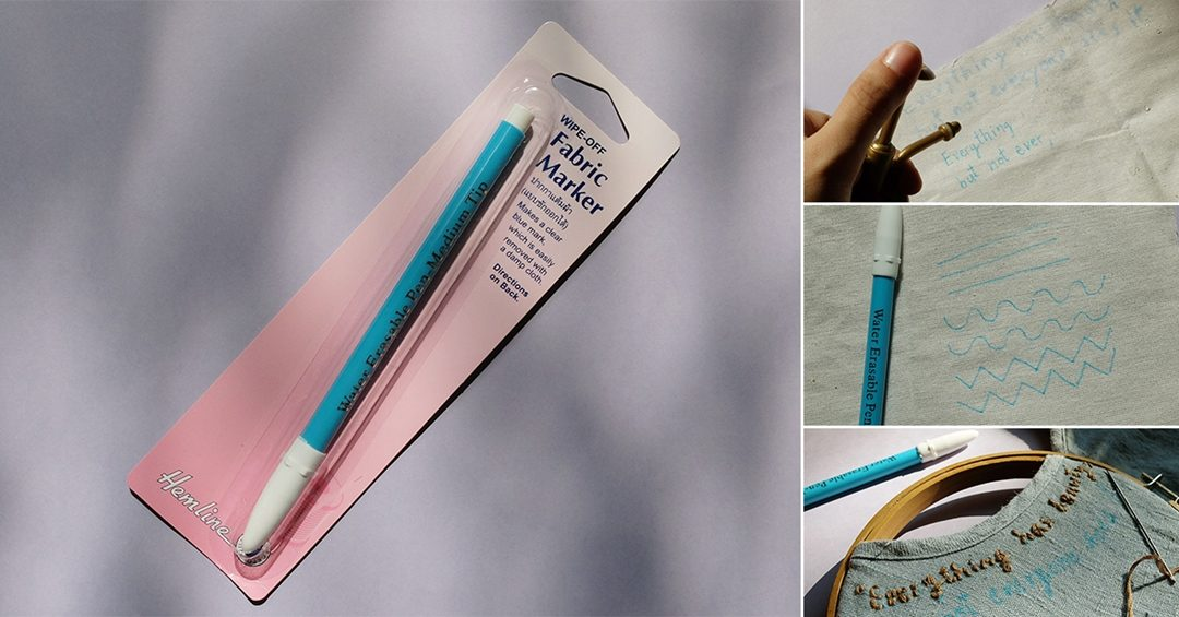 Review ::  ปากกาแต้มผ้า สีฟ้า