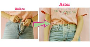 HOW TO วิธีขยายขนาดไซด์กางเกงยีนส์