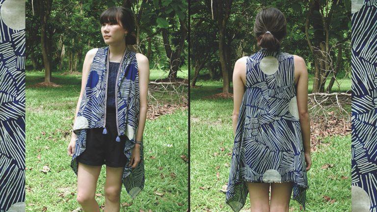 How to : เสื้อคลุมแบบยาว แขนกุด