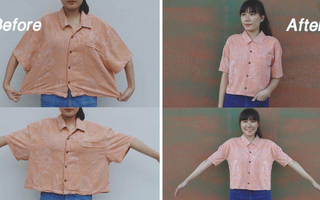 How to : แก้ไขเสื้อโอเวอร์ไซส์ ให้เข้ารูปแบบง่ายๆ