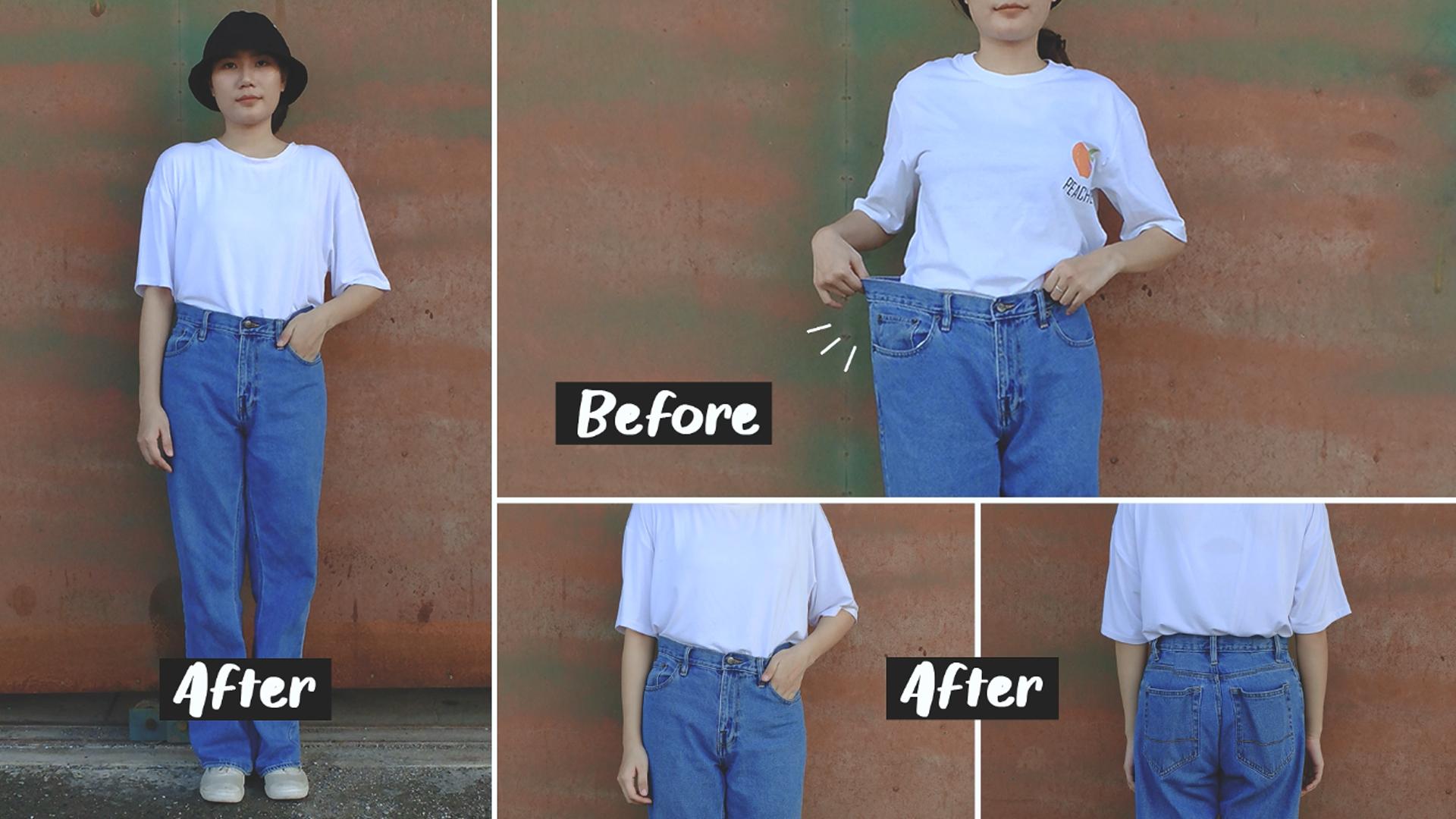วิธีลดไซส์กางเกงยีนส์