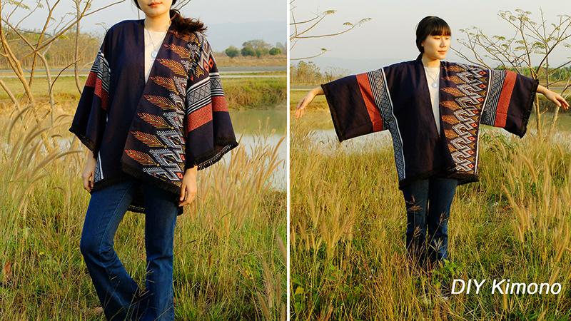 How to : เสื้อคลุมกิโมโน สไตล์ไทยอินเตอร์
