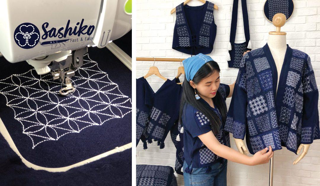 งานปัก Sashiko แนวใหม่  Fast & Easy  ทำเร็วและง่าย เข้ากับยุคดิจิตัล