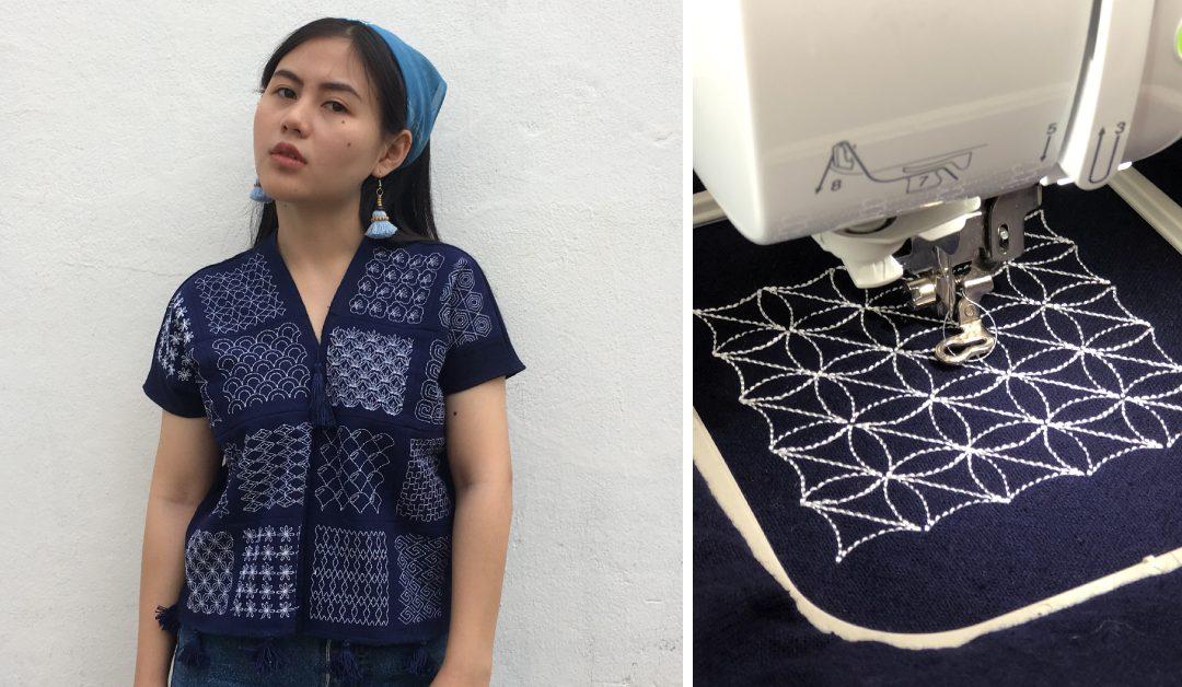 วิธีการปักและเย็บเสื้อกะเหรี่ยง Sashiko