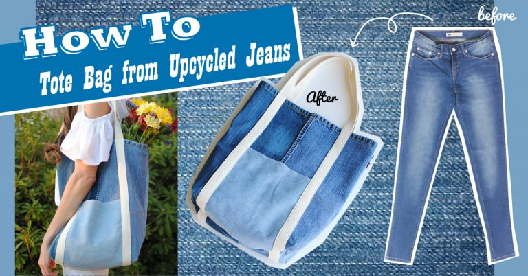 How To✖ Tote Bag from Upcycled Jeans