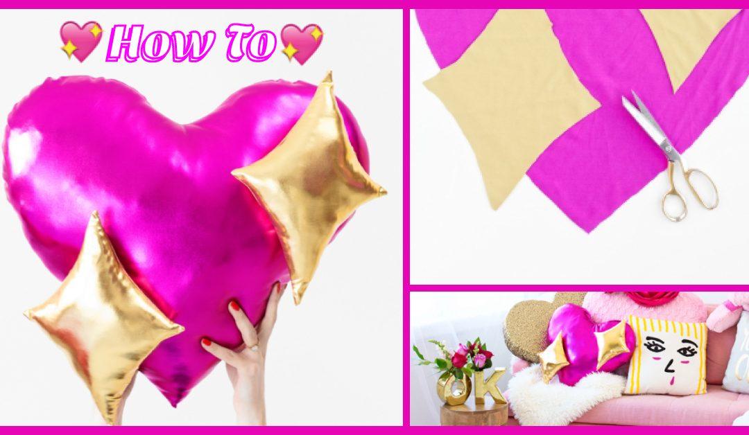 How To : เย็บหมอนหัวใจสีชมพู 💖