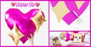 How To เย็บหมอนหัวใจสีชมพู 💖