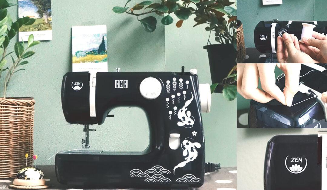 จักรเย็บผ้า ZEN รุ่น ZN1101 วิธีร้อยด้าย กรอกระสวย ปรับความตึงด้าย เลือกลายเย็บ